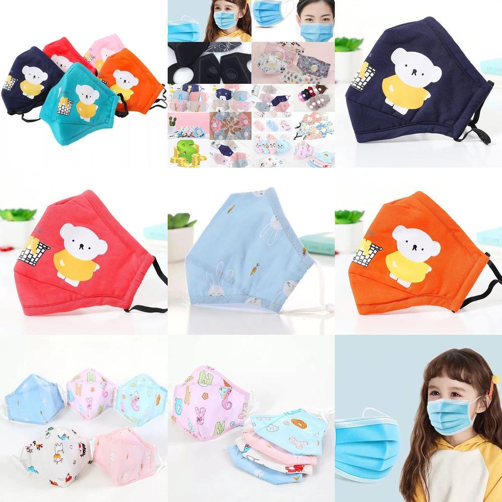 Sfiato della maschera di filtro puro cotone Valve lavabile riutilizzabile adulto Bambini antipolvere smo 2WXA 9FFU1