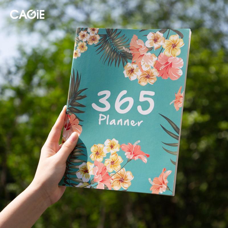 Flor de Kawaii 2020 Plano 2021 A4 mensal Notebook Organizer 365 dias Revistas DIY Planner Weekly Notepad Kpop papelaria presente