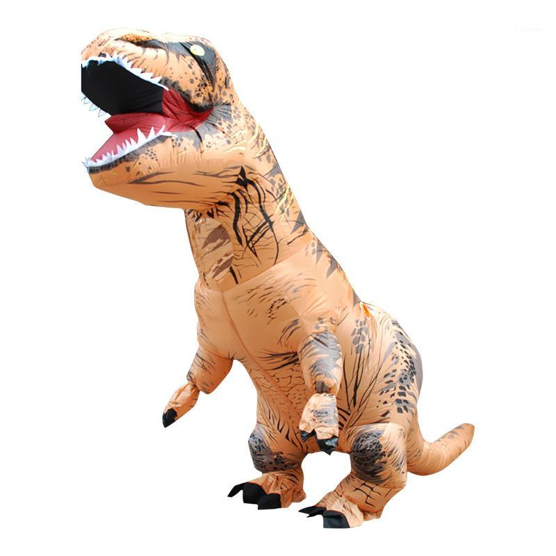 هالوين الديناصور تأثيري موضوع زي الكبار الديناصور الكبار نفخ زي موضة طويل فضفاض تأثيري الملابس