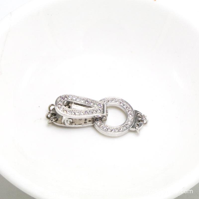i4h4e accessoriesDiy braccialetto te collana collana di perle tre file di doppia fila singola rowmicro intarsiato zircone connectingbracelet