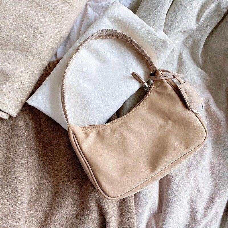 Bolsos de las mujeres del bolso de hombro de nylon Baguette Ladys bolso de la alta calidad Colores múltiples bolsas