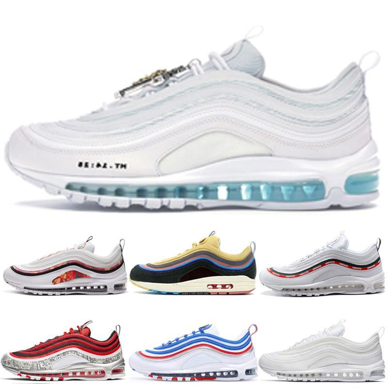 2018 novo chaussures max 97 se summer vibes tênis de corrida para mulheres dos homens, moda 97 97 s athletic formadores sapatilhas aq4137-101 eur 36-46