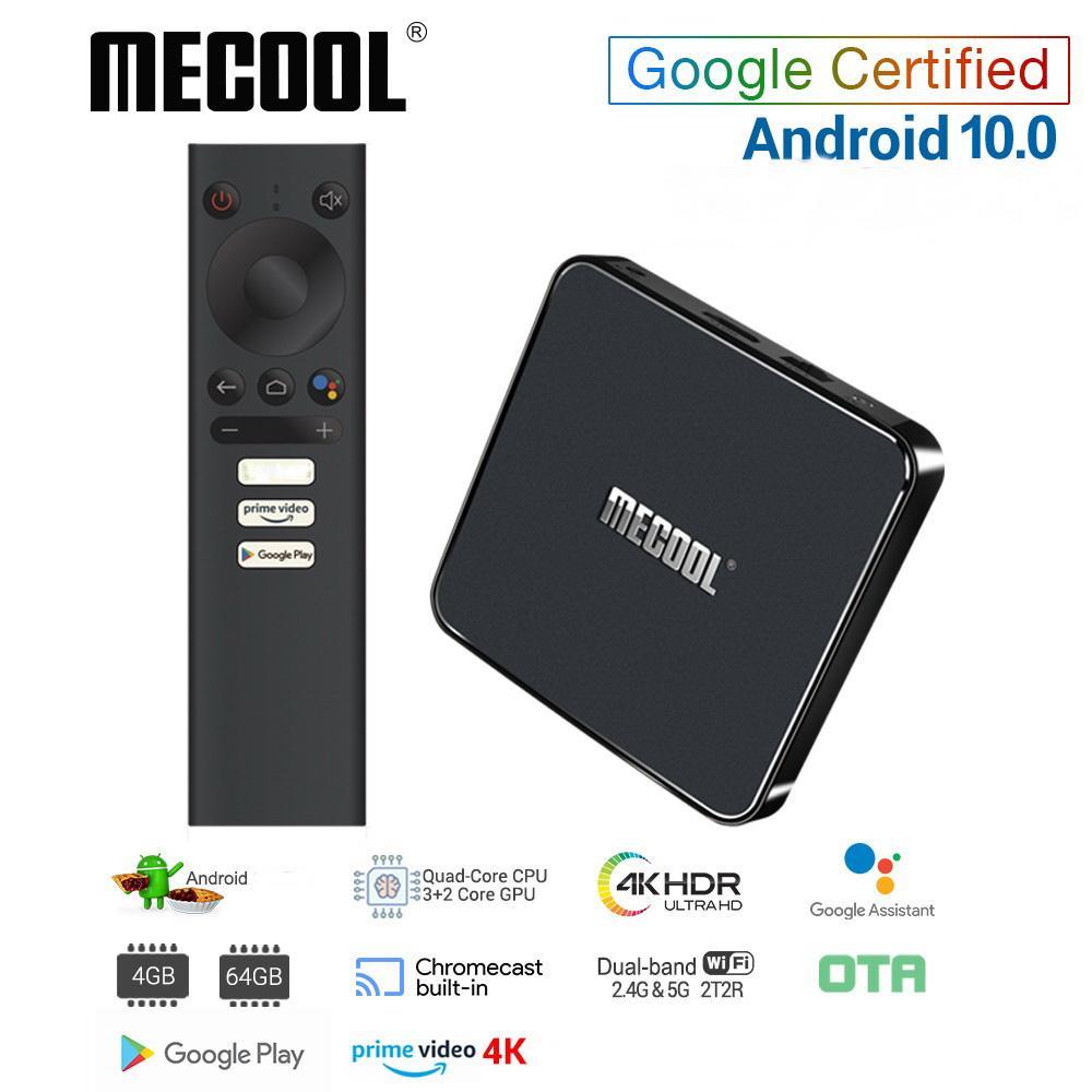 Mecool KM1 ATV certificato di Google Android TV Box 10 Amlogic S905X3 Primo Video di Smart Android TV 4K doppio Wifi 2T2R Set Top Box