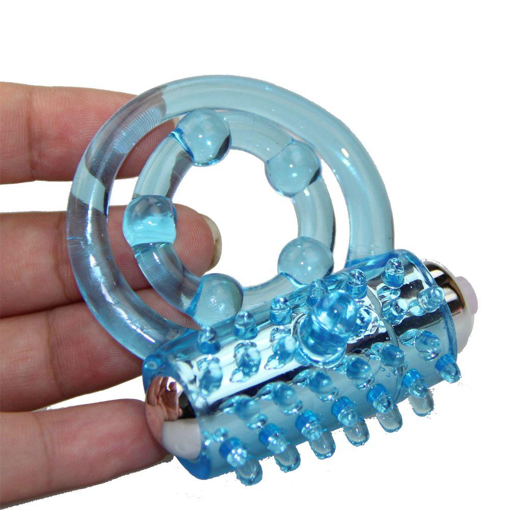 doppi anelli del pene per l'uomo vibrattor ritardo cockring Migliora durata di rubinetto a sfera sesso adulto della clitoride stimolare Articoli per massaggio