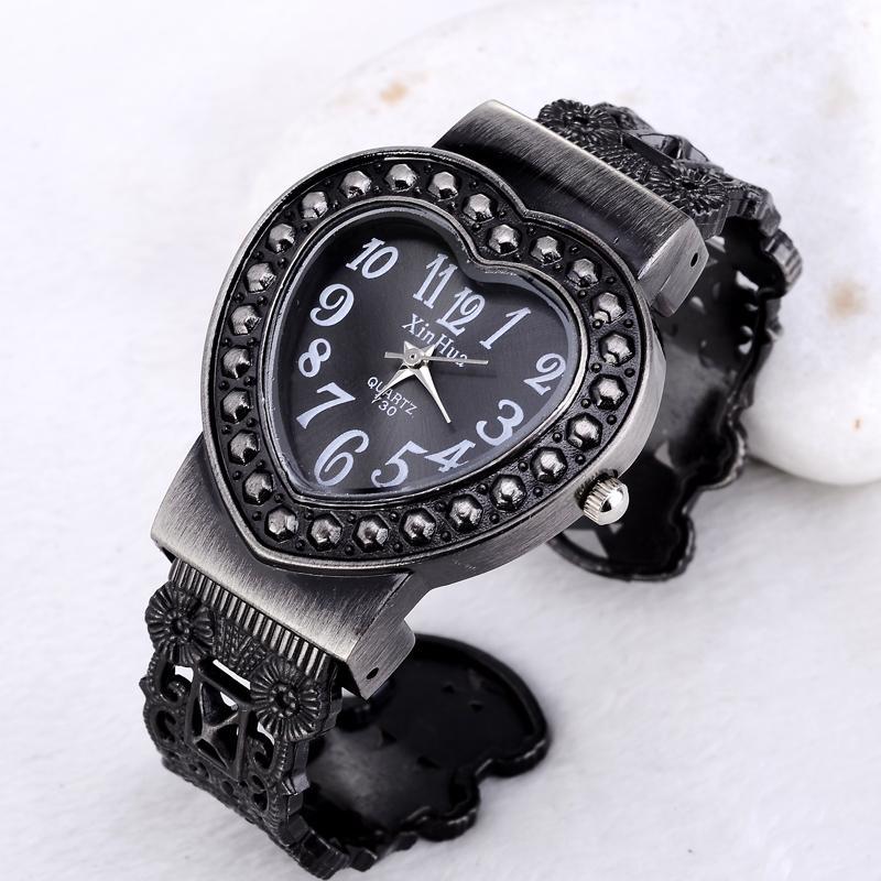 Relojes de pulsera Reloj Reloj Rhinestone Mujer Negro Acero Inoxidable Pulsera Relojes Cuarzo único Reloj de Mujer