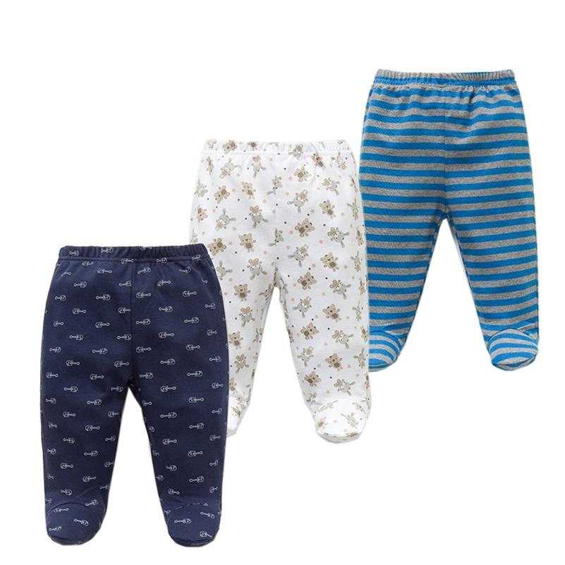 3PCS/lot Pants 100% Cotton Autumn Spring Newborn Boys Girls Trousers Kid Wear Infant Toddler Cartoon For Baby Clothing MX200811