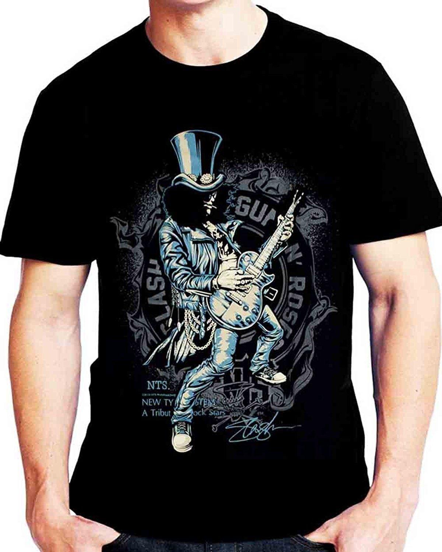 Funny T Shirts Slash Guns N Roses hommes Guitariste à manches courtes T Shirt