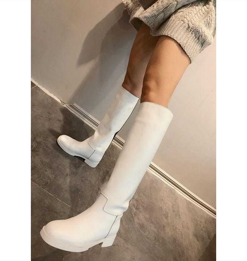 mulheres livres do transporte de longo botas de marca genuína botas de couro designer de moda senhoras qualidade mulheres sapatos Cavaleiro Bota inverno 2019 de saltos baixos