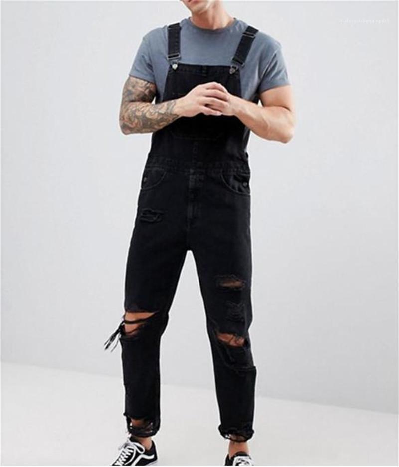 Tulumları Moda Delik Kasetli Erkek Erkek Vintage için Kalem Pantolon Gündelik Doğal Renk Jeans Giyim Yıkanmış