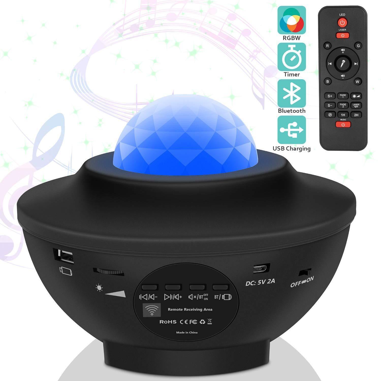 musique Led étoilé lampe de projection ciel / câble USB lampe de nuit laser à commande vocale LED Bluetooth dans le ciel lampe modèle d'eau