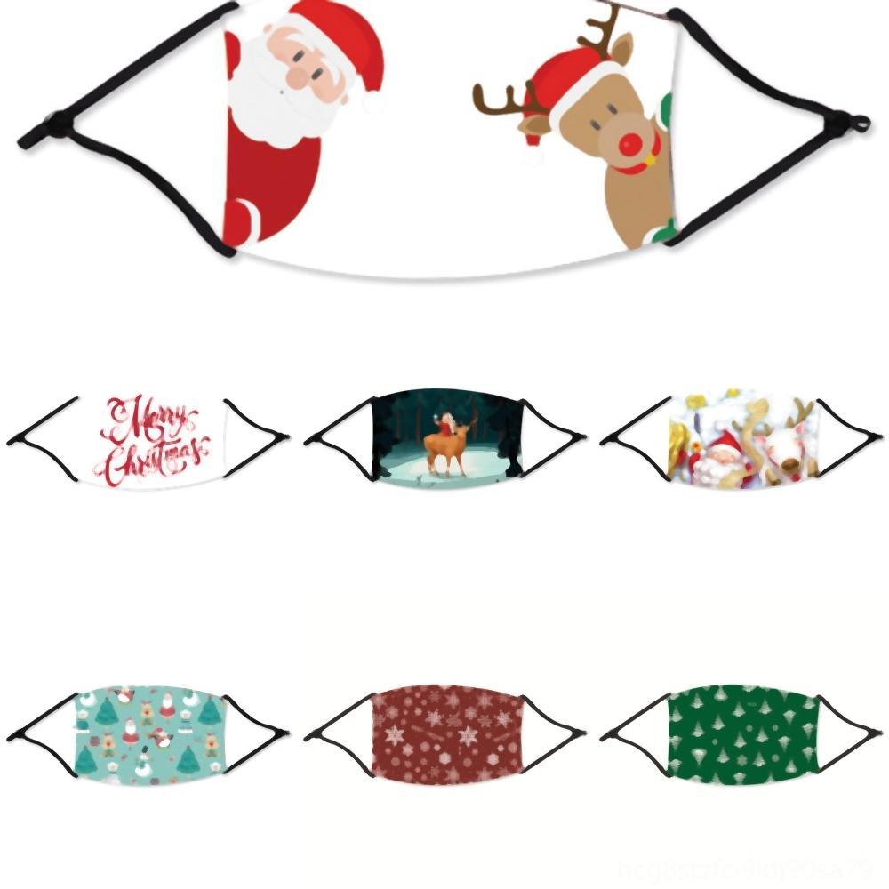 Máscaras Máscara 7EbOj Fiesta de Santa Claus Con PM luminoso que brilla FilterColors Cara Máscara de Navidad para LED Festival de Navidad de la mascarada del delirio