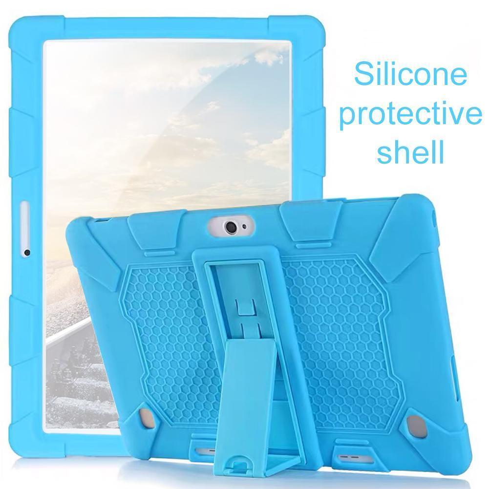 For 10.1'' Universal Soft Silicone Case For 10.1 Inch Android Tablet PC Shockproof Solid Color Back Cover Protective