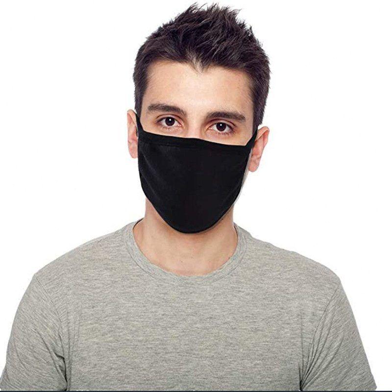 5pcs Moda preto à prova de poeira / embalar Máscara Unisex algodão Boca lavável reutilizável Protective Hh9-3161 Hkr1 #