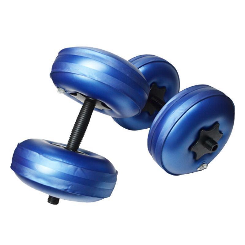 20-25KG Su dolu Dumbbell Spor Ekipmanları Eğitim Kol Muscle Fitness Ayarlanabilir Kullanışlı Su Enjeksiyon Dumbbells