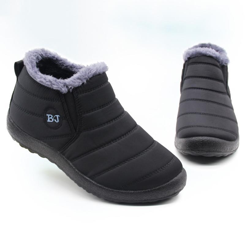 Zapatos Hombres Botas de invierno de hombres de peso ligero de la nieve botas de agua Calzado de invierno más el tamaño de 47 cordones unisex tobillo botas de invierno