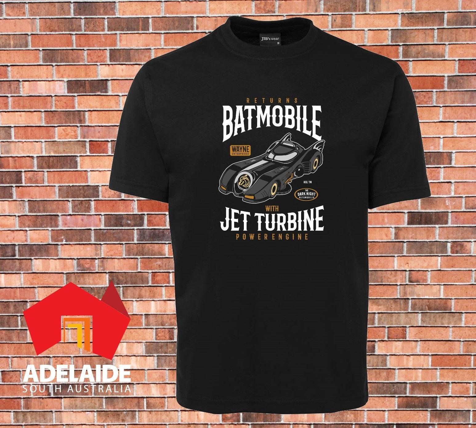 2019 Мода Прохладный Черная футболка Бэтмобиль возвращается Темный рыцарь Бэтмен Новый дизайн футболочку