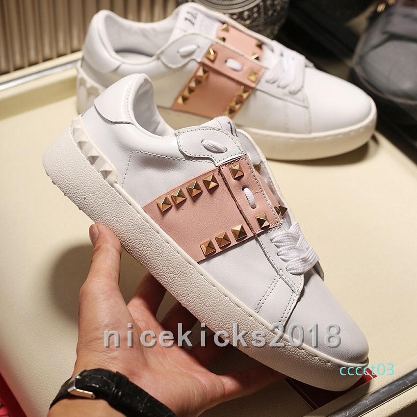 Nuevos Zapatos Moda Mujer Hombre Casual zapatos del punto de alta calidad de la manera libre del Athletic Skateboarding vestido Shoesct03