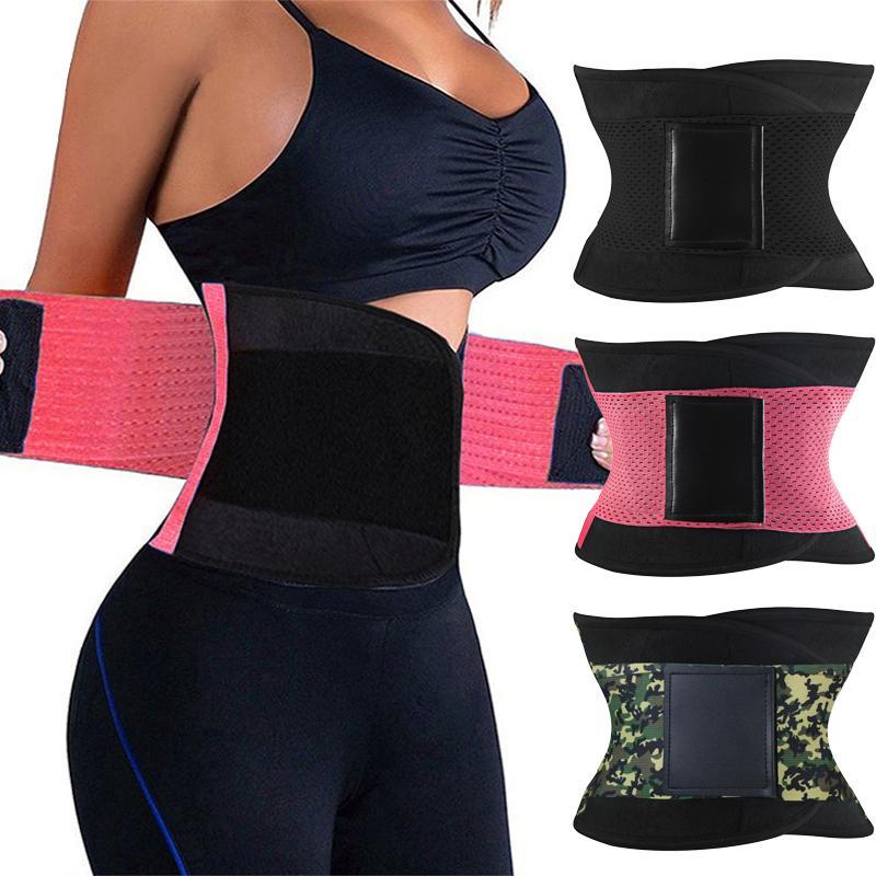 Burvogue Shaper Women Body Shaper Slimming Shaper Belt Girdles Firm Control Waist Trainer Cincher Plus size S-3XL Shapewear T200915