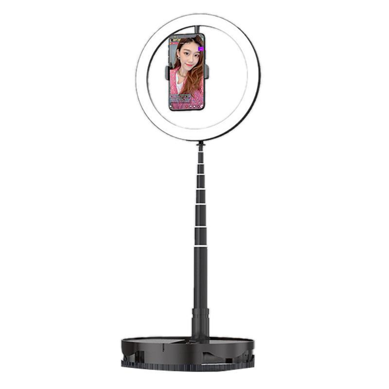 Telefone Mobile Live encher de luz retrátil dobrável portátil Anchor beleza rosto selfie Suporte ao Vivo Ring Light