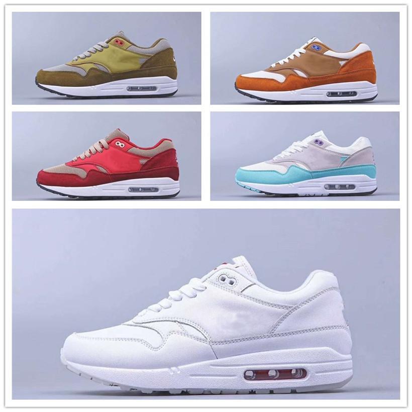 Nike air max airmax 87البلا من الأحذية العلامة التجارية الرجال منصة إمرأة نوع خيش رجل المدربين الرياضية حذاء عارضة بيضاء UNDERCOVER تتفاعل العنصر 87c