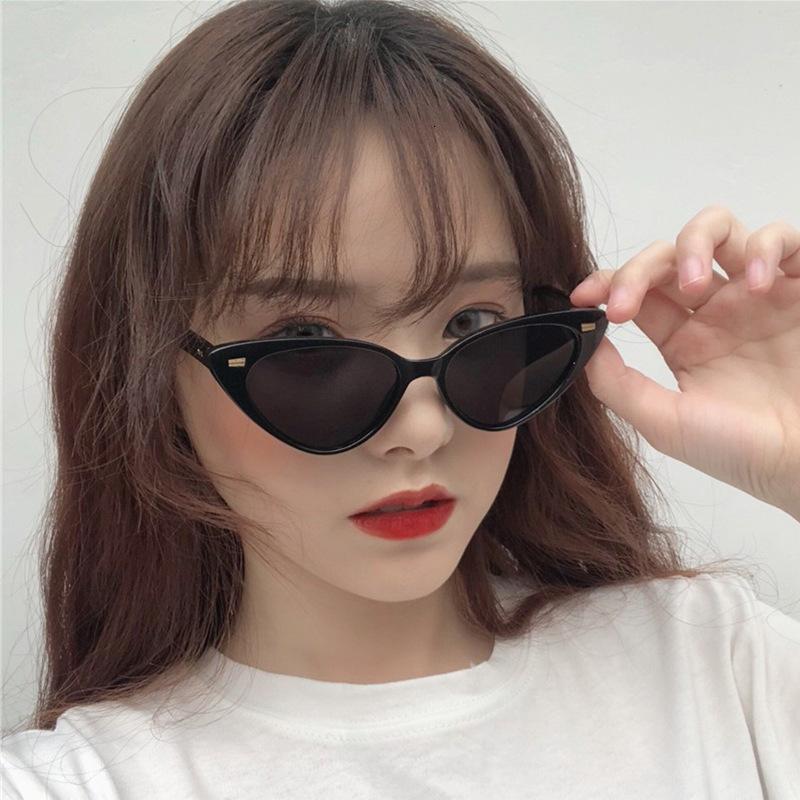 Katze Eye Sonnenbrille Frau Shades Weibliche Niete Dreieck Sonnenbrille Oculos Mode Marke Designer Gafas de Sol Brillen Kqxaw