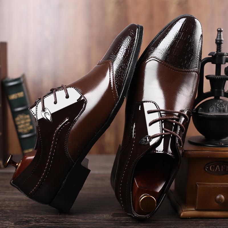 Слип 2020 новый британский Мужская На спилка Остроконечные Черный Коричневый Toe Мужчины обувь Бизнес Свадьба Oxfords Формальные обувь для мужчин-48