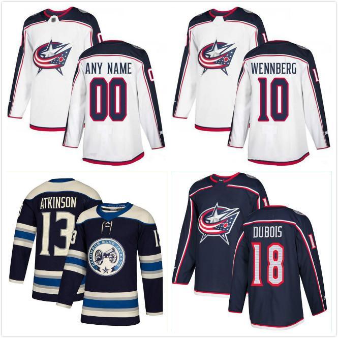 Columbus Blue Jackets Trikots 13 Cam Atkinson 3 Seth Jones 71 Nick Foligno 8 Zachary Werenski anpassen eine beliebige Anzahl beliebiger Name Hockey Jersey
