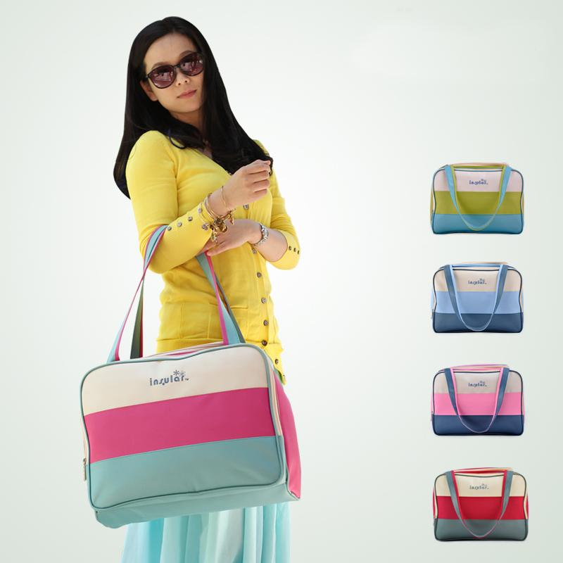 Diaper Bags Insular Brand Baby For Mom Bolsa Maternidade Multifunctional Striped Nappy Mother Maternity Diapers