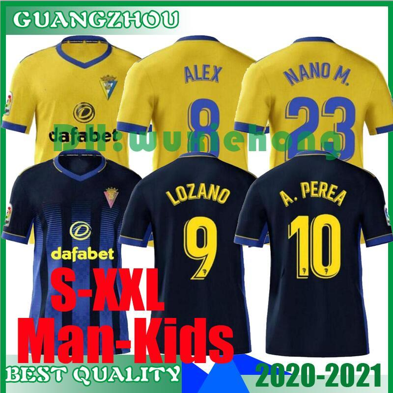 2020 2021 Cadiz soccer jerseys home away CÁDIZ CF 20 21 camisetas de fútbol JUAN CALA BODIGER Jovanovic JURADO MEN KIDS KIT football shirts
