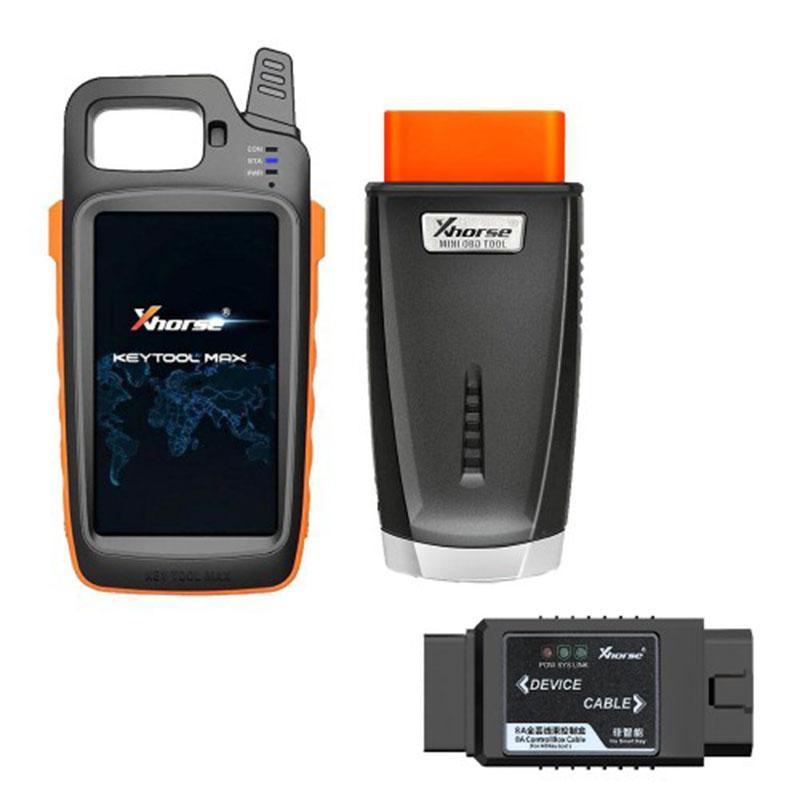 Xhorse VVDI chiave strumento di Max + MINI OBD Strumento + Toyota 8A tutte le chiavi adattatore perso liberarsi Renew via cavo e 2pcs XSKF01EN Smart Remote