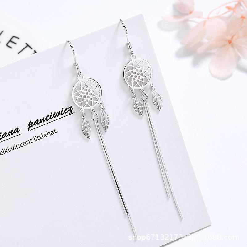 qgFCB Sonho net jóias S925 prata da família Pan e brincos borla uma família sonhar brincos mulheres líquidas