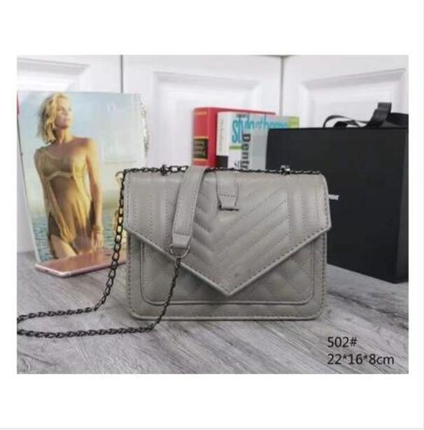 Mode femme de haute qualité Sac à bandoulière or argent en cuir Pu et sac chaîne de ruban sac à bandoulière Messenger Femme handbagwallet 6colorsD1