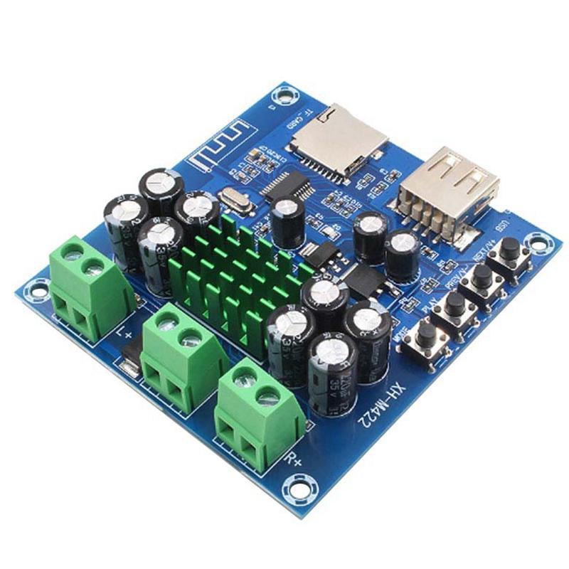 Bluetooth 4.0 Совет стерео 50Вт х 2 о с Bluetooth U Disk TF Card Player 12-24В XH-M422 C3-001