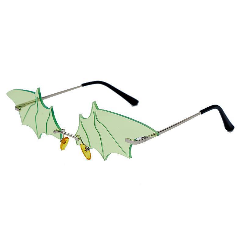 Gafas de sol 2021 Gafas personalizadas en forma de murciélago fresco Estilo de hip-hop Trendy Colorful Street