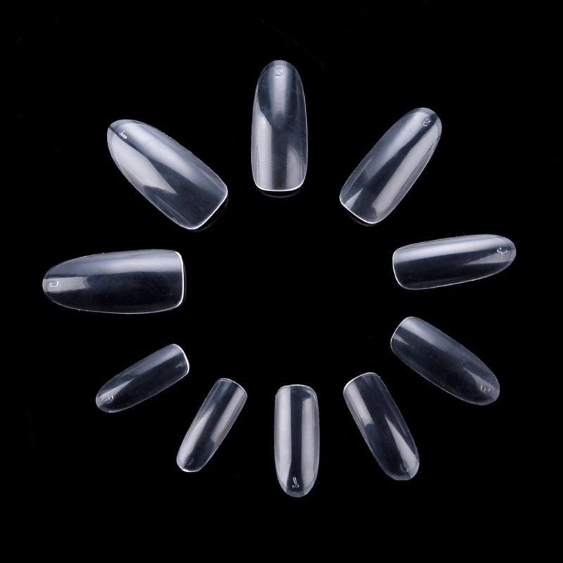 10 500 Packs Ongles Ovale Fullwell clair PARFAITEMENT faux ongles Manucure Nail art français acrylique décoré A0015X