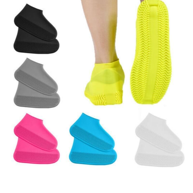 Водонепроницаемая обувь силиконового материал Мужской обуви протекторы дождь сапог для Крытой Открытых дождливых дней Чистки обуви Обложки галоша BWD1730