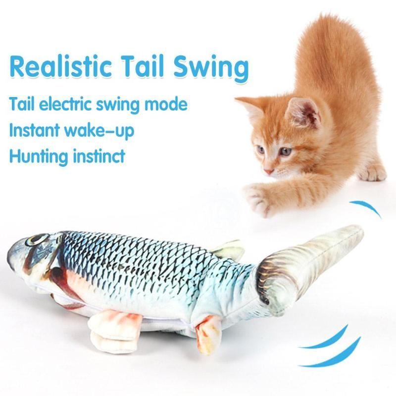 Plush Toy Elétrica Entoando The Fish Simulação de peixes Mostrar Decoração Fun macia indutivo bonito