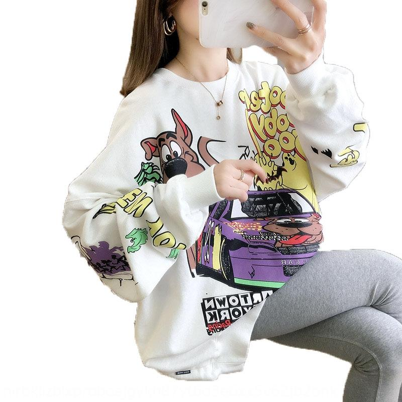 uy6Cf 2020 новых женщин Top Sweatersweater свитер весна осень шеи тонкие женщин типа ины модных ленивым БФ стиль свободный круглый и топ корейский с
