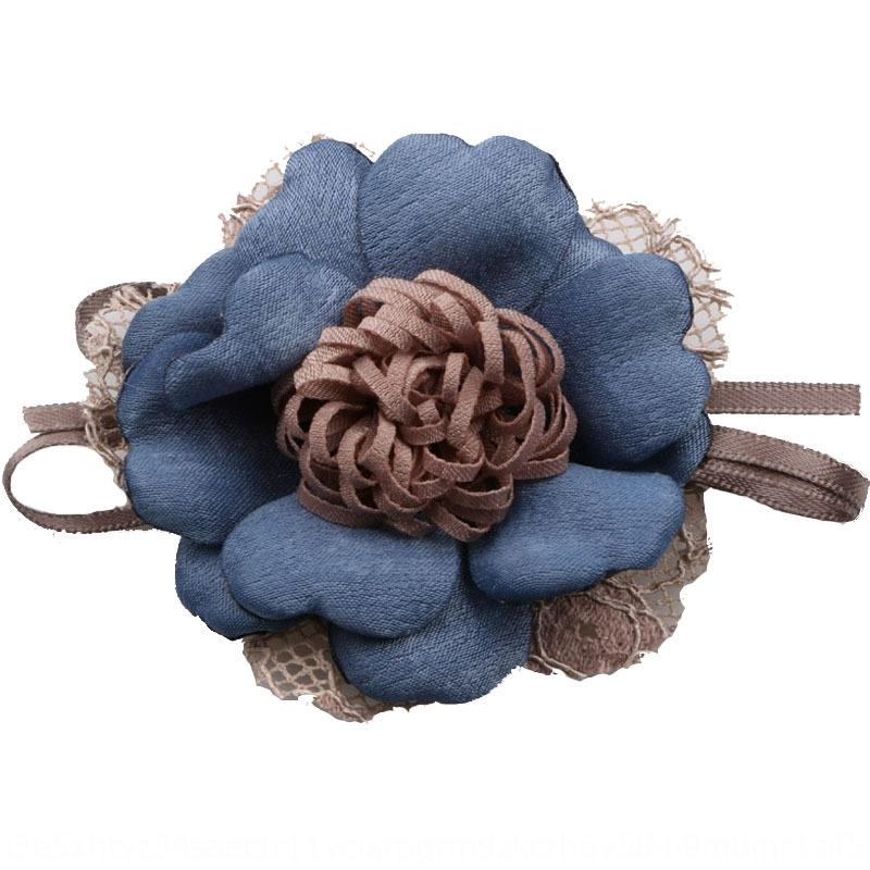 lAD4o Korean diy hmade creative lace edge-burning flower corsage making hairpin children's hair accessories material Diy shoes and hats lace