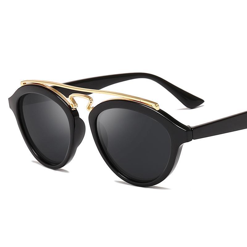 Marken-Designer-Sonnenbrillen Männer Frauen Sonnenbrillen Klassische runde Brillen Retro Vintage UV400 Driving Goggles
