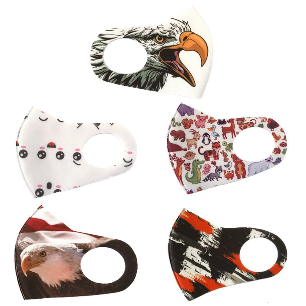 Stampa fibra di progettazione 3d Bocca lavabili riutilizzabili traspirante maschera anti polvere impermeabile sottile Ear-hook Tipo Bwc1326