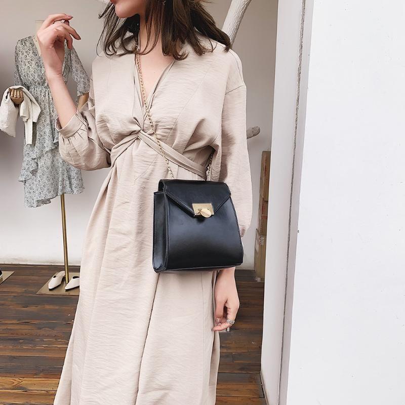 Women Korean Shoulder Bag Luxury Handbags Bags Designer Version Luxury Wild Girls Small Square Messenger Bag Bolsa Feminina #LG