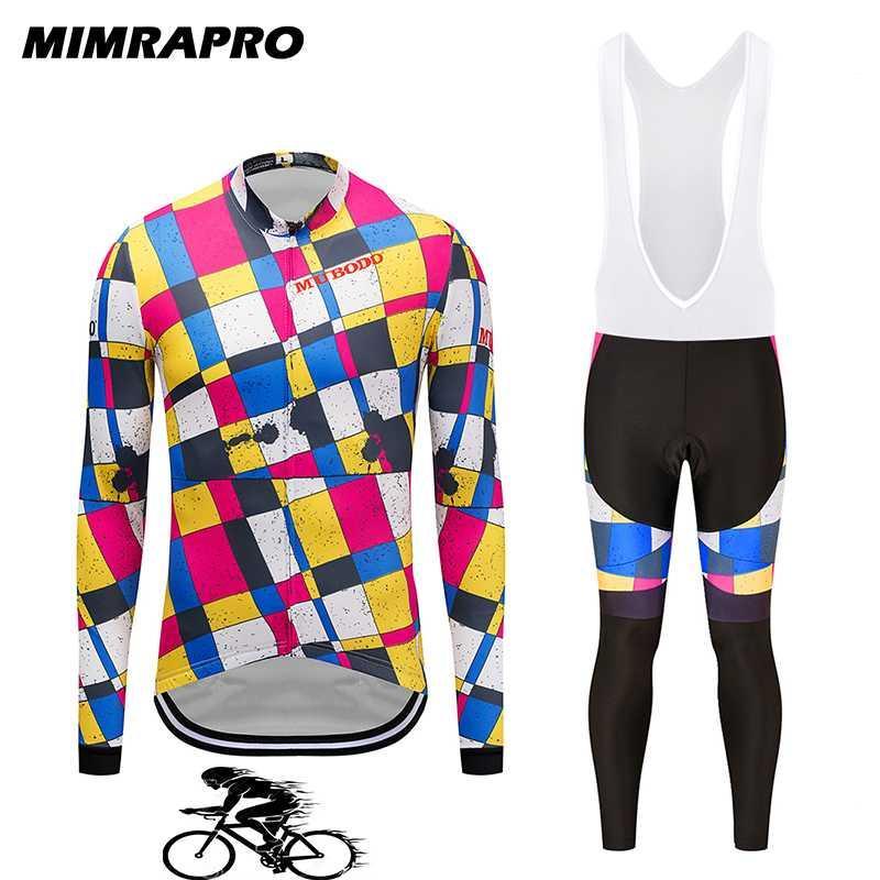 2020 MIMRAPro à manches longues cyclisme sur route Jersey / Vtt Vêtements Vêtements Vélo Ropa Bike Wear Multicolor 027-2