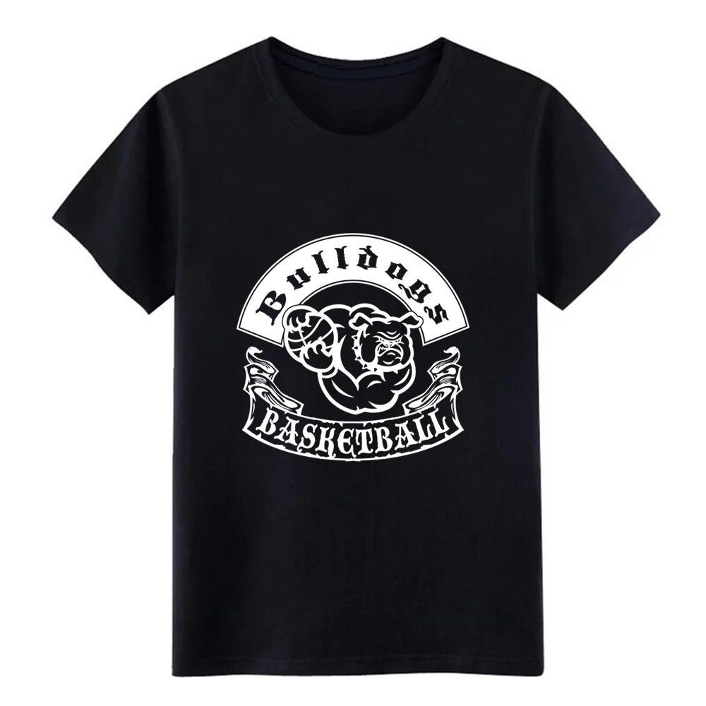 Erkekler Bulldoglar Basketbol t gömlek Custom% 100 pamuk Mürettebat Boyun düz renk Grafik Komik İlkbahar Sonbahar Desen gömlek