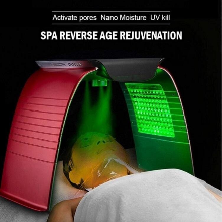 2020 حب الشباب إزالة العلاج الصباغ نانو رذاذ photothrapie جهاز الأشعة تحت الحمراء REDLIGHT جمال مصباح أدى لوجه