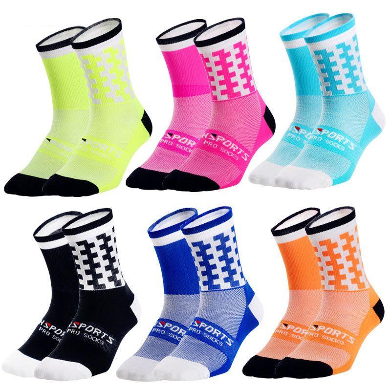 3 paia Colorful Asimmetria Sport Socks Wearable Sweat Cycling Socks Ciclismo Correre Calcio Basket Outdoor Sports