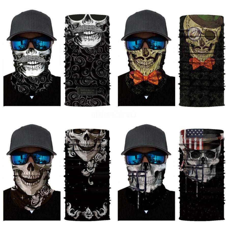 3D Magic sin fisuras Cinta de cabeza tubo del cuello Cráneo Bufanda animal de ciclo de la mascarilla de la motocicleta Bandera Nacional Headskull cráneo bufanda bufandas Ha # 635