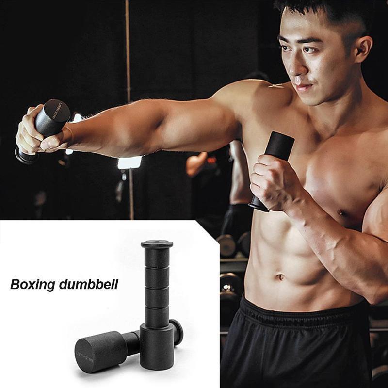 الدمبل 1 pair المحمولة الصلب الملاكمة المضادة للانزلاق دائم اليد الأوزان اللياقة معدات الهواء جرس القتال نقطة التدريب