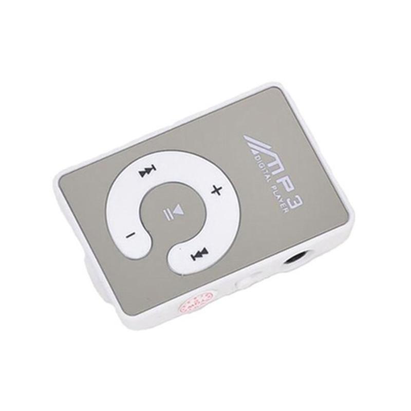 Mini TF Card Music C Button MP3 Player Digital Sports Clip Portable Mirror Waterproof