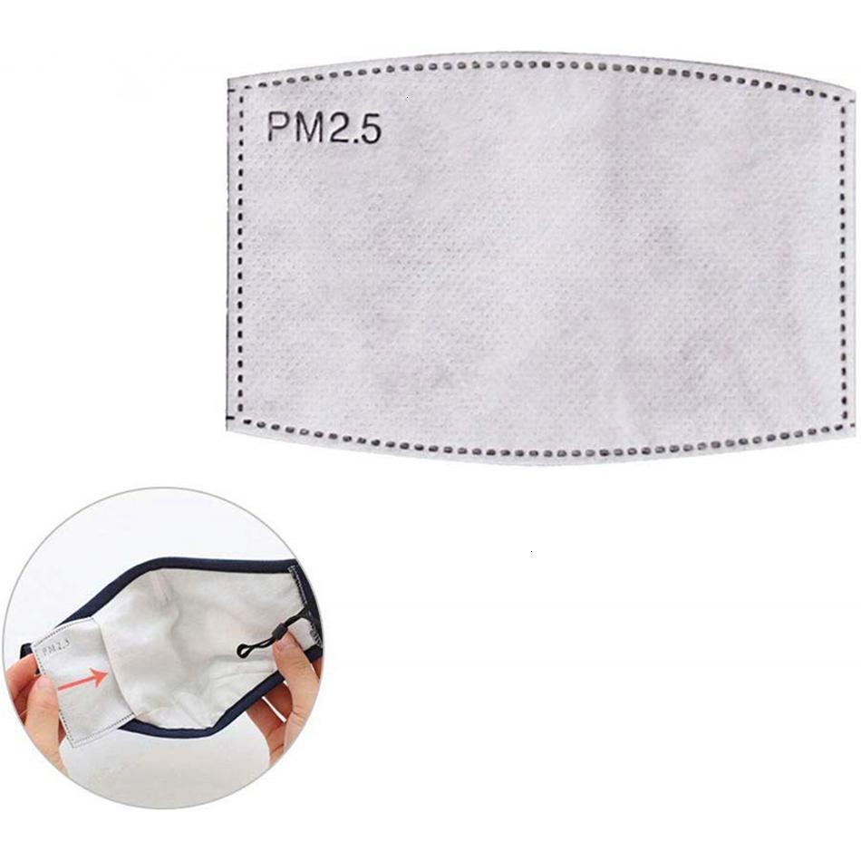 Filtre PM2.5 Karşıtı Haze Ağız 5 Maske Değiştirilebilir Filtre Katmanlar Aktif Karbon Dokumasız